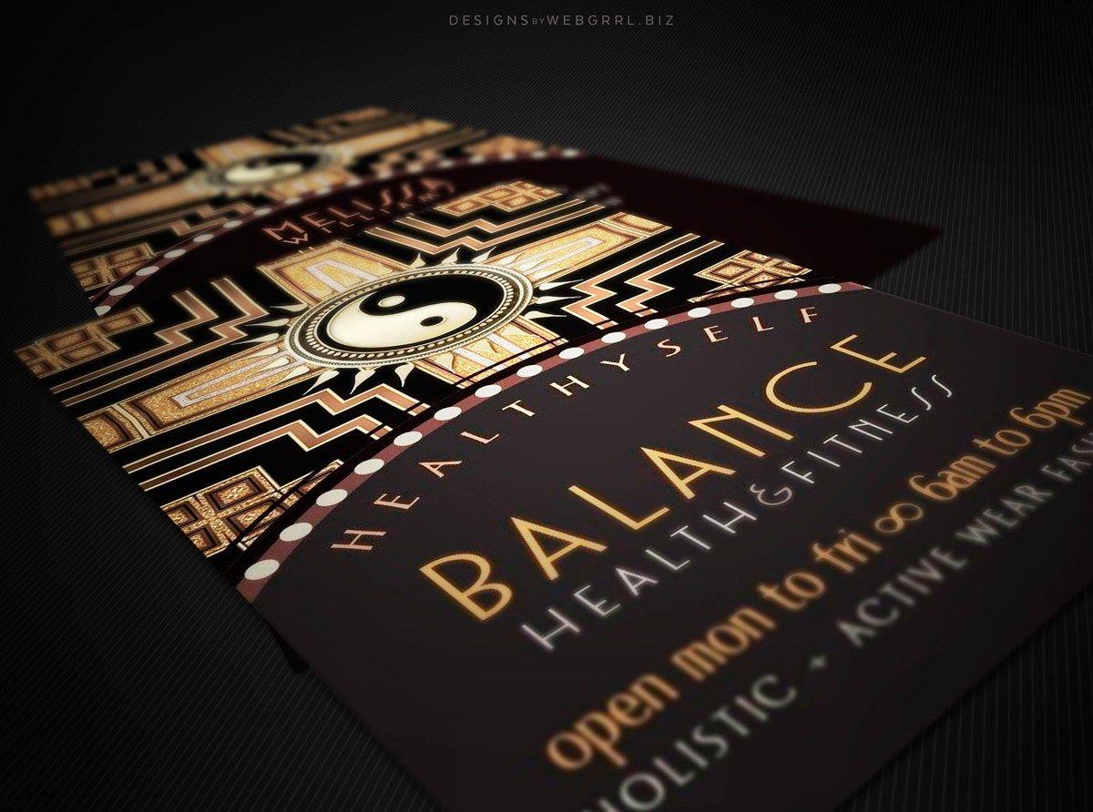 Yin yang art deco gold black new age business cards yoga holistic yin yang art deco gold black new age business cards yoga holistic customizable colourmoves