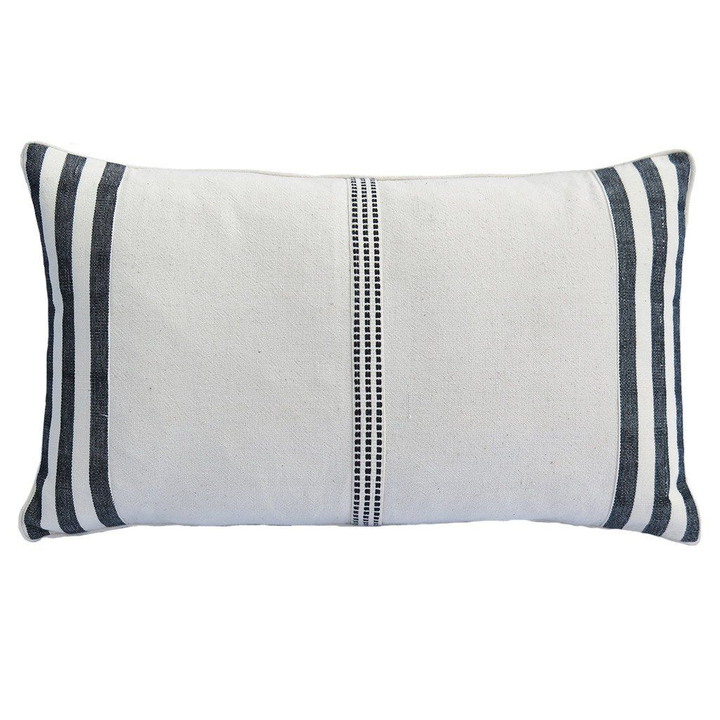 Large Black And White Cushion Cover