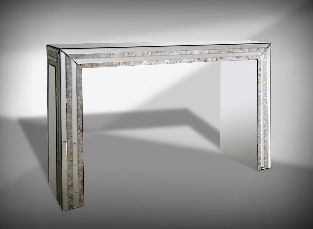 Glass console table with mirror modrest mirabelle mirrored console table  pinterest  console