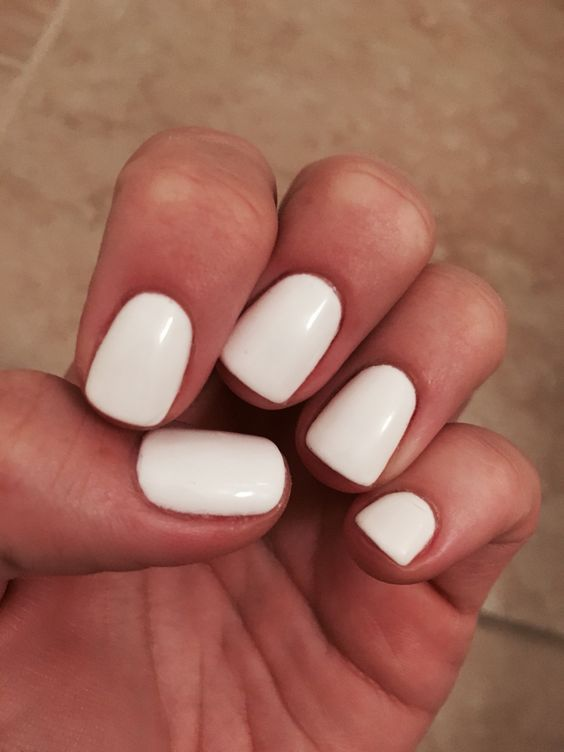 White Gel Nails White Gel Nails Trendy Nails Nails