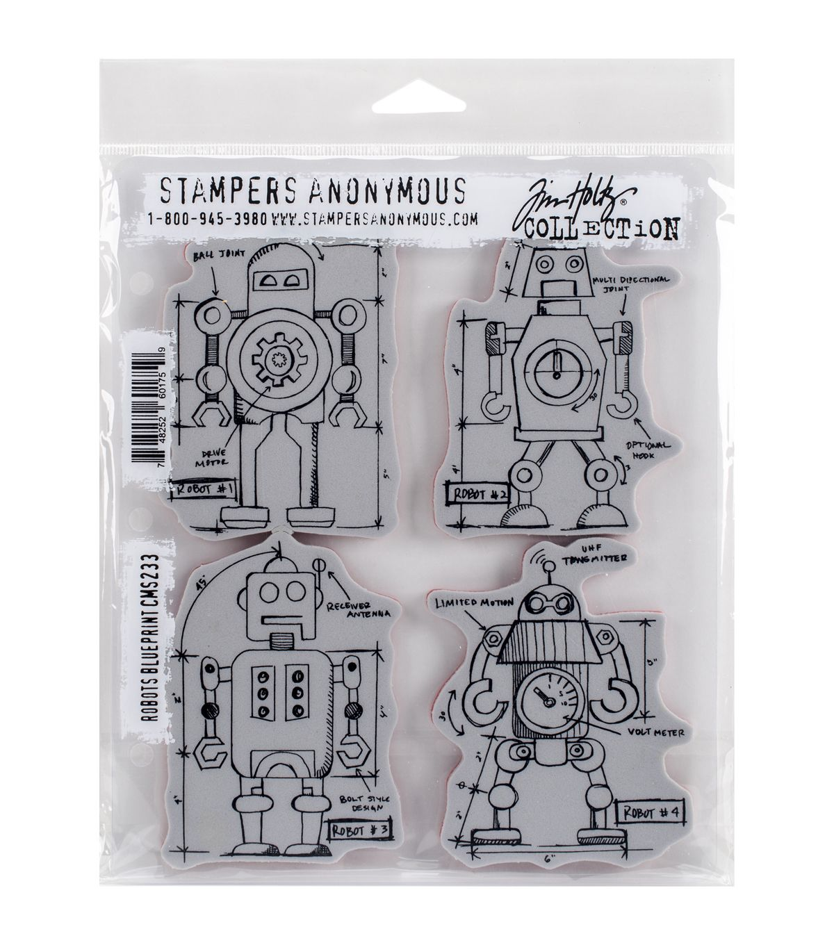 Stampers anonymous tim holtz robots blueprint cling rubber stamp stampers anonymous tim holtz robots blueprint cling rubber stamp set paper crafting stamping s malvernweather Choice Image