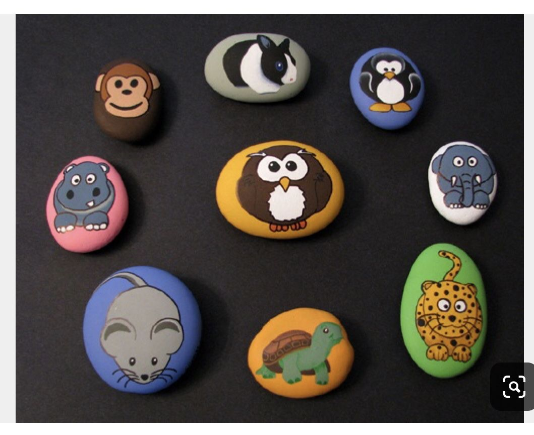 Pin By Anna On Zoo Farm Jungle Animals Painted Rocks