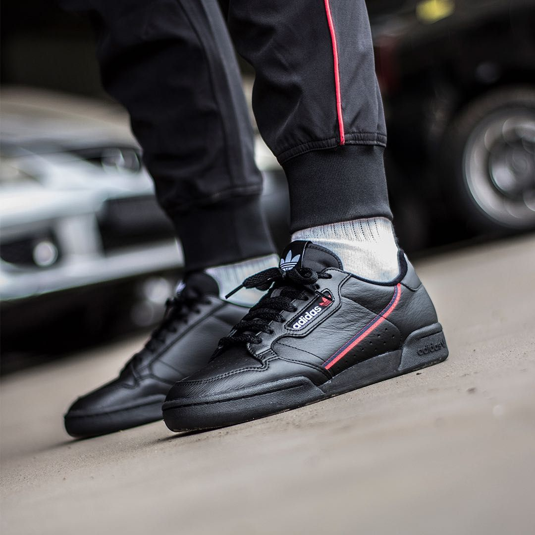 Adidas Continental 80 Black Scarlet | Men's fashion