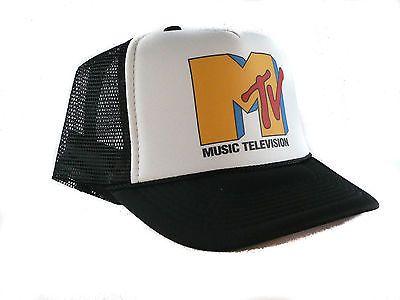 862b84bbc0b Vintage Mtv music television Trucker Hat mesh hat snapback hat black ...