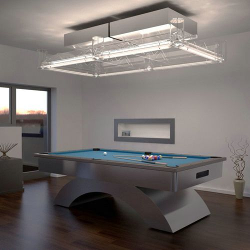 Pool Table With Modern Lighting