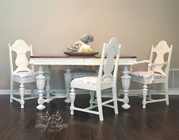 SOLD Dining Room Table 4 Chairs Solid Wood Jacobean