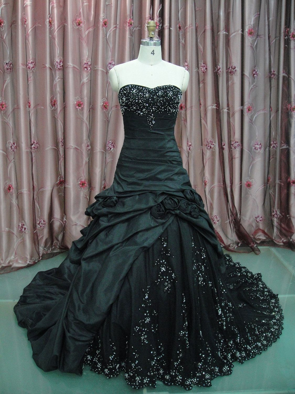Red and black wedding dress  Custom Made Maggie Sottero Inspired Black Wedding Gown Dress  Red