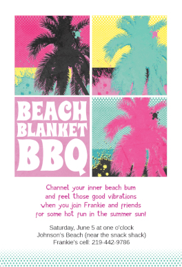 Beach Blanket Barbecue Printable Invitation Template Customize