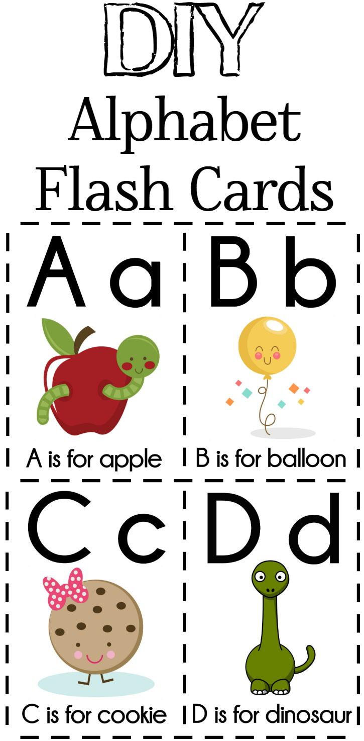 Diy Alphabet Flash Cards Free Printable  Alphabet Flash Cards