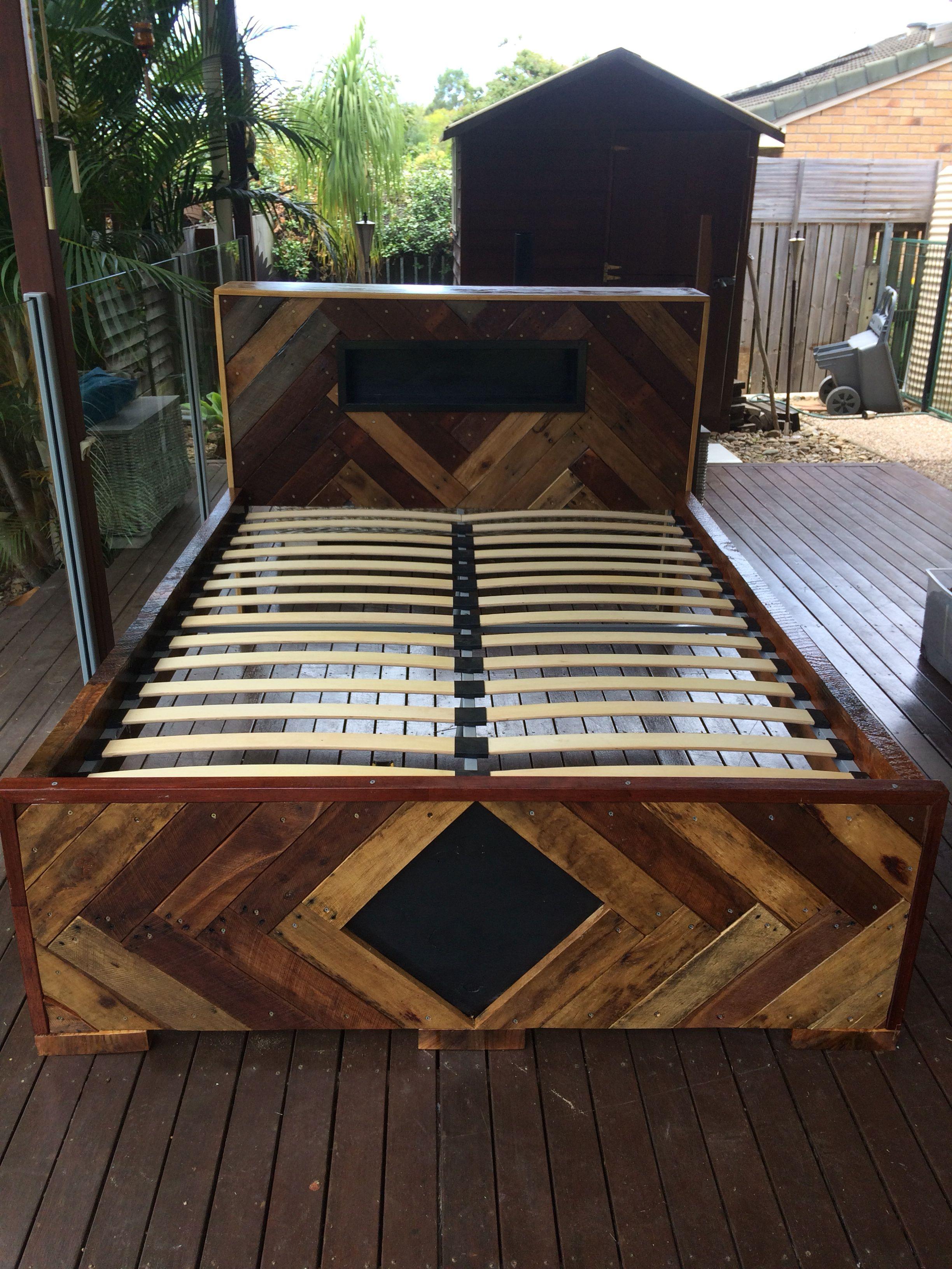 Diy Timber Bed Frame Pallet Furniture Bed Headboards For Beds