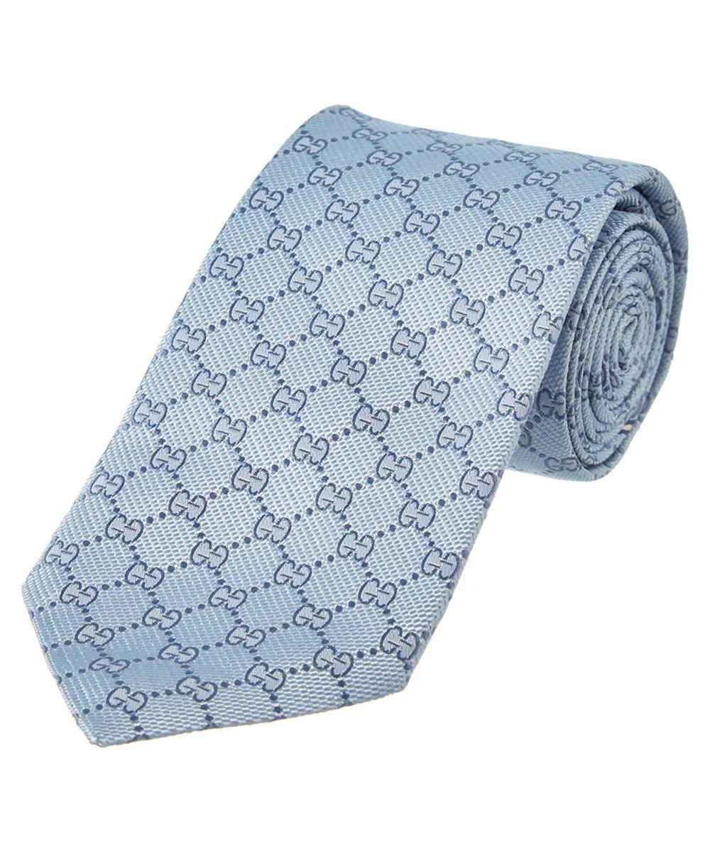 3bf7f03035e16 GUCCI Gucci Light Blue  Amp  Navy Gg Silk Tie .  gucci  ties