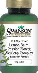 Swanson Premium Lemon Balm Passion Flower Skullcap Complex 225 225 225 Mg 180 Caps Swanson Health Products Swanson Vitamins