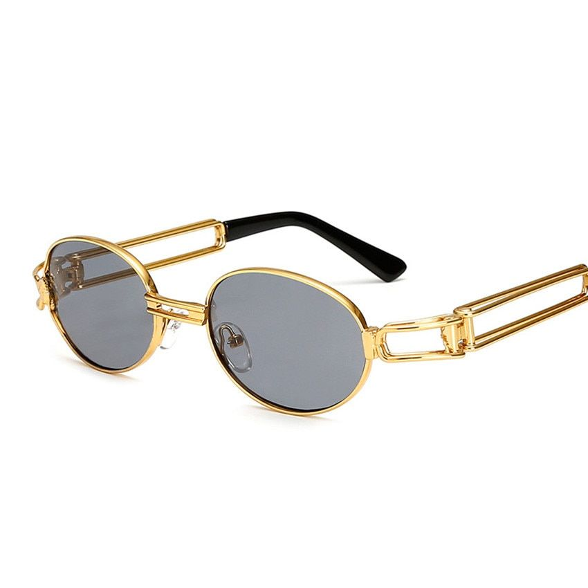 Classic Polarized Sunglasses Men Oval Sun Glasses Metal Frame Eyewear Cheap mow