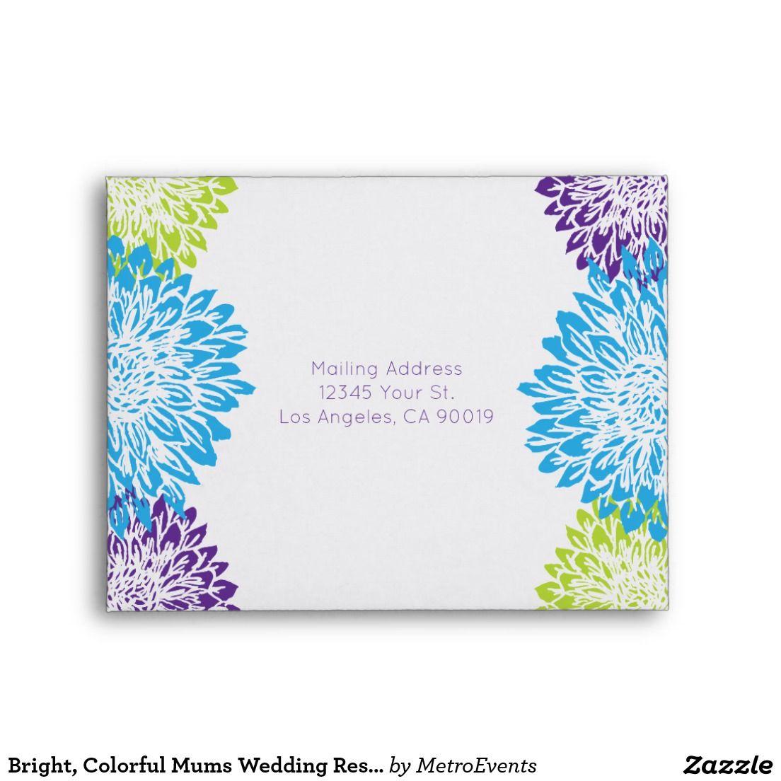 Bright colorful mums wedding response wedding response