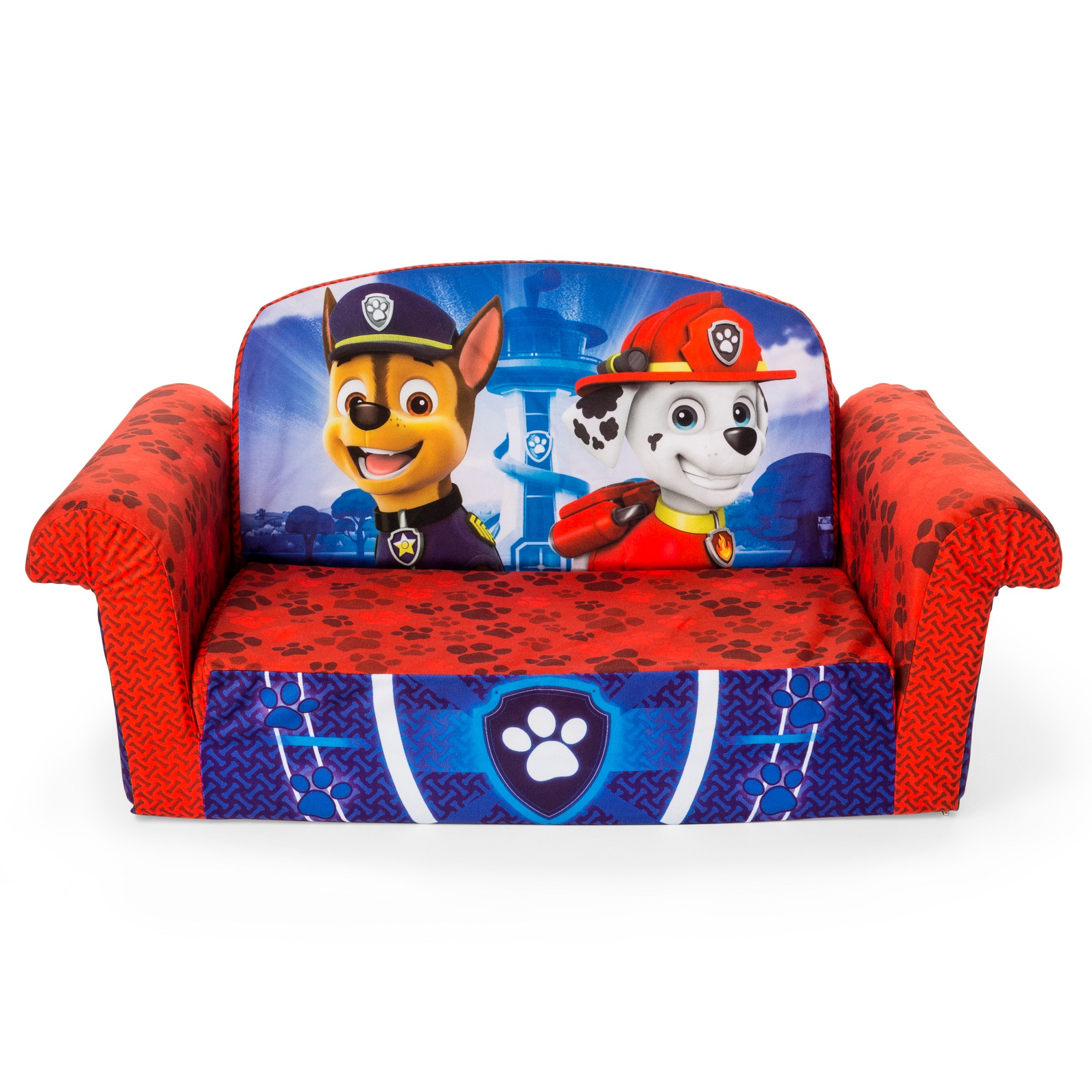 Brilliant Marshmallow Kids Furniture Paw Patrol Flip Open Sofa Blue Pabps2019 Chair Design Images Pabps2019Com