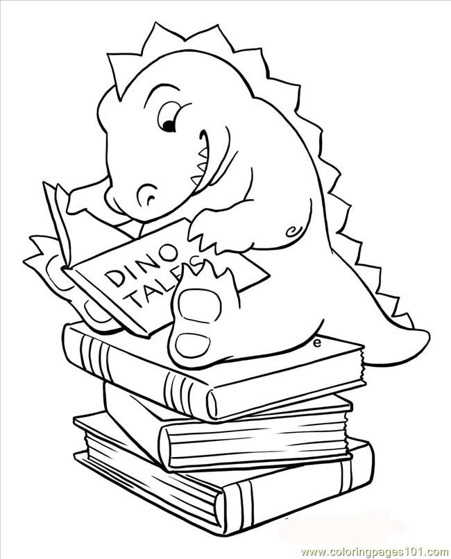 Books Coloring Pages Educational