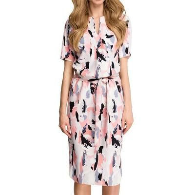 Women Midi Party Dresses Geometric Print Summer Boho Beach Dress 3