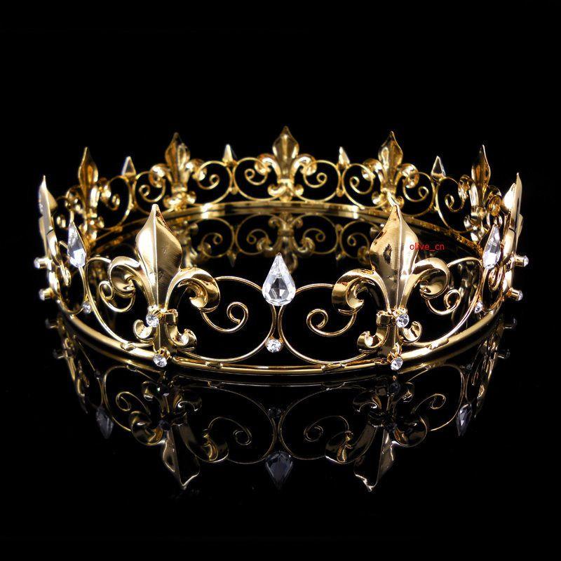 Herrenkaiser Mittelalterliches Fleur De Lis Gold Knig Krone 18cm Durchmesser  eBay  Neues