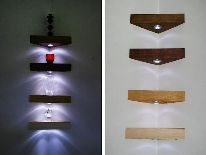 1001 Idées Idee Maison Pinterest Corner Shelves Floating