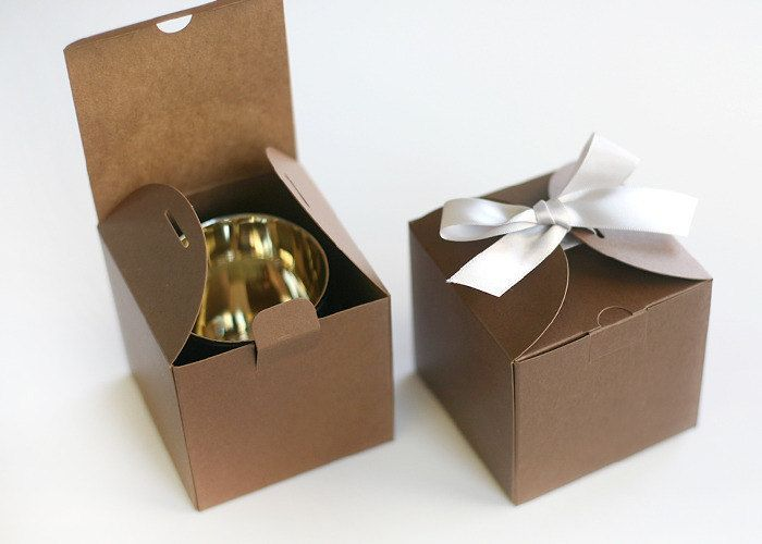5 Dark Kraft Color Gift Boxes Gift Packaging Wedding Favor Box