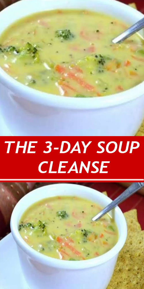 THE 3-DAY SOUP CLEANSE: EAT AS MUCH SOUP AS YOU WA