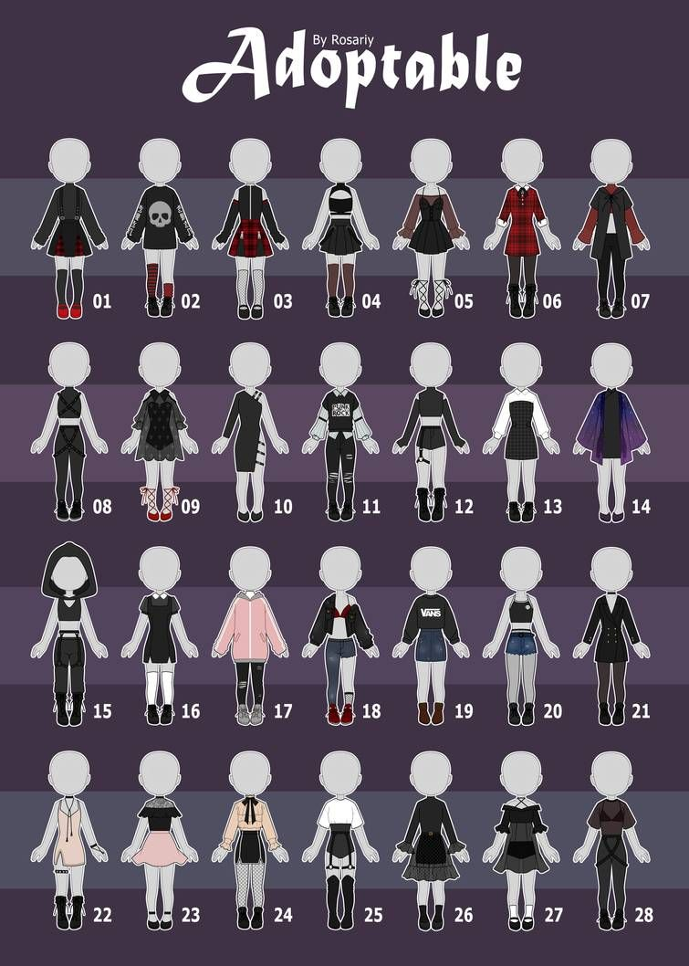 Open 3 28 Casual Outfit Adopts 59 By Rosariy Fashion Design Drawings Drawing Anime Clothes Drawing Clothes
