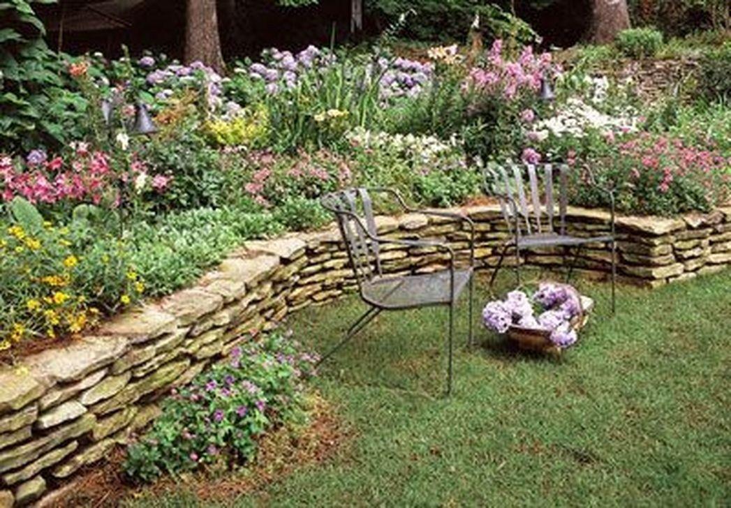 Enchanting Stone Walls Garden Ideas 32 Rose garden
