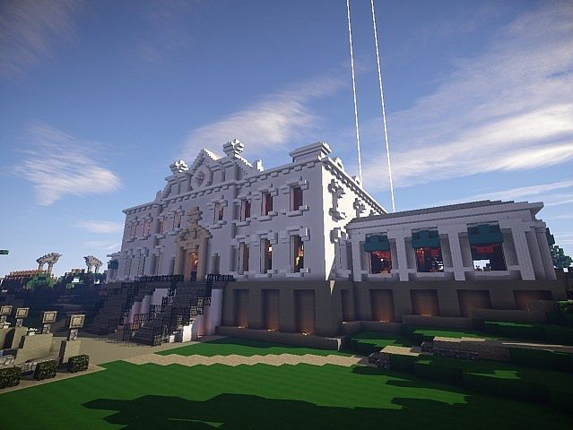 Snows Mansion Minecraft Building Ideas House Huge Amazing Back