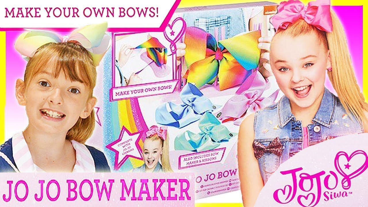NEW JoJo Siwa Jo Jo Bows Bow Maker Girls Hair Fashion Accessory Making Kit Set