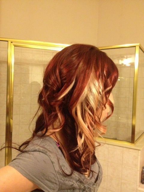 Auburn Hair With Peek A Boo Highlights Hair Color Ideas