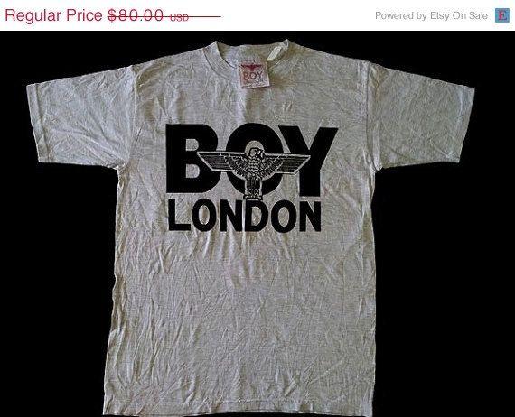 Clearance Sale Vintage Vtg Boy London 80 S Big Logo Punk Hip Hop Gray Tee T Shirt Size M On Etsy 68 00 Cool Tees Grey Tee Boy London