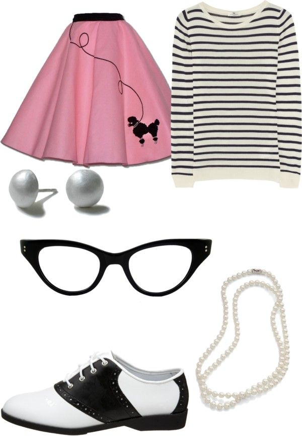 8abb9ccddfa Sock Hop Outfit... I like the stripe shirt with the poodle skirt. And of  course