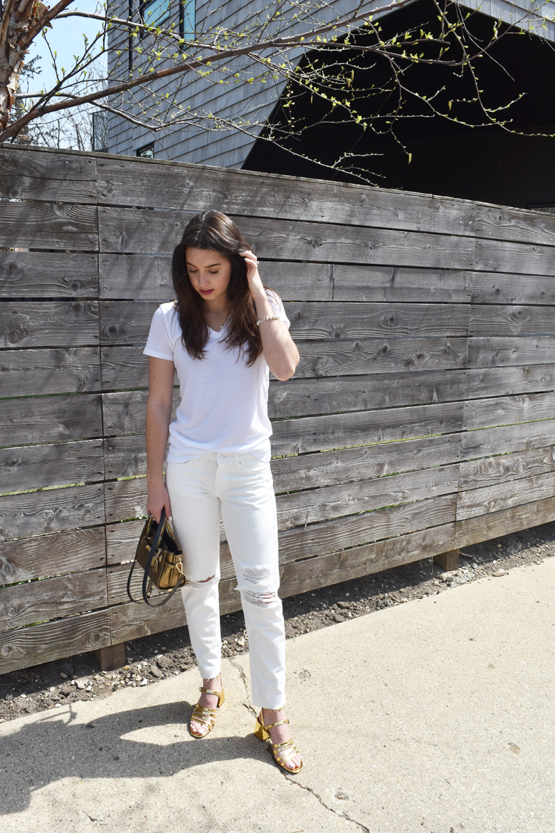 Simplicity in the Basics | Abound White V-neck T-shirt, H&M White ...