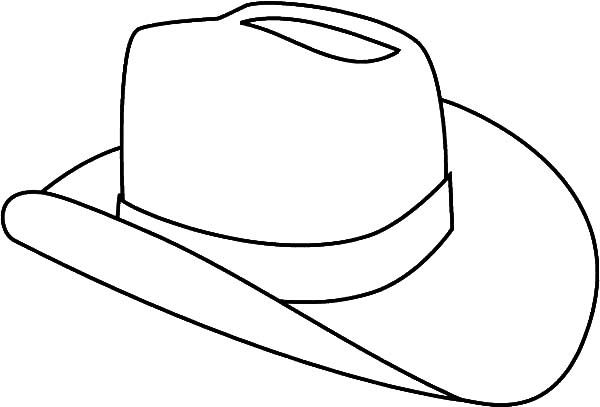Hat Cowboy Hat Outline Coloring Pages Sewing Embr Line Art