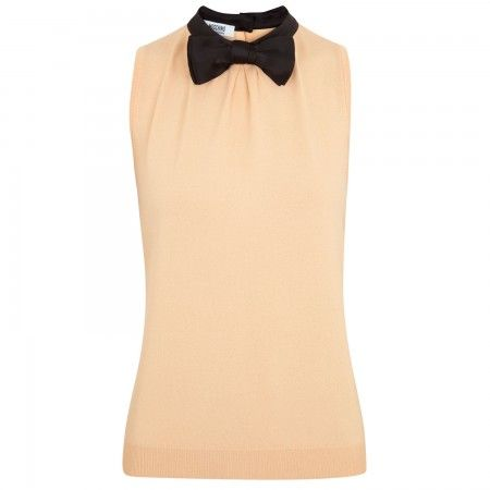 Moschino Cheap and Chic peach fine knit top