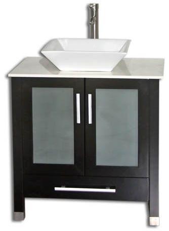 30 Inch Bathroom Vanity Vessel Sink 30 inch bathroom vanity vessel sink top modern style espresso