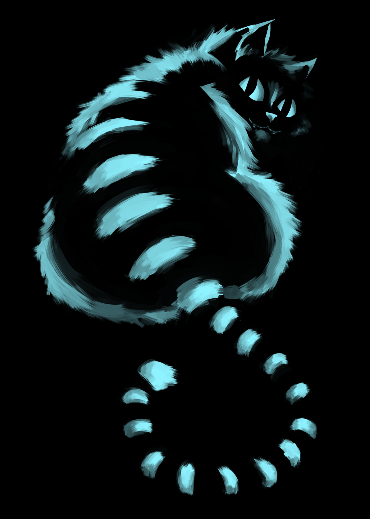 my attempt at the cheshire cat, I always loved the new version of ...