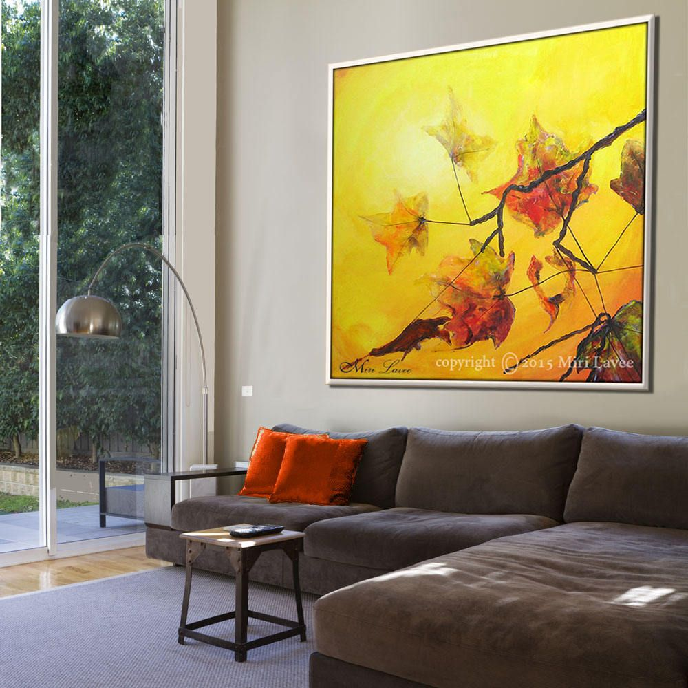 Leaf Art, Abstract Painting, Landscape Painting, Landscape Art ...