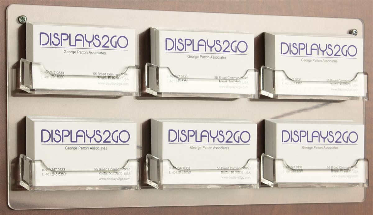 Workshop Series 6 Pocket Acrylic Business Card Holder For Wall