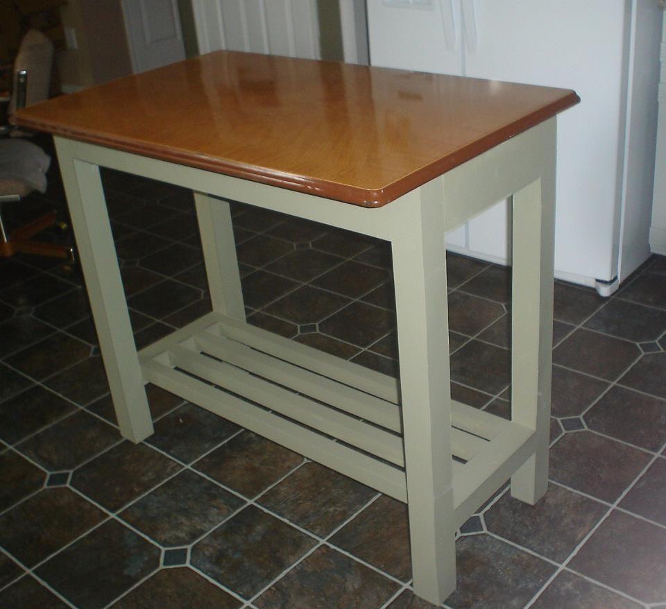 Kitchen island genius idea upcycle a vintage metal table top as a kitchen island genius idea upcycle a vintage metal table top as a counter workwithnaturefo