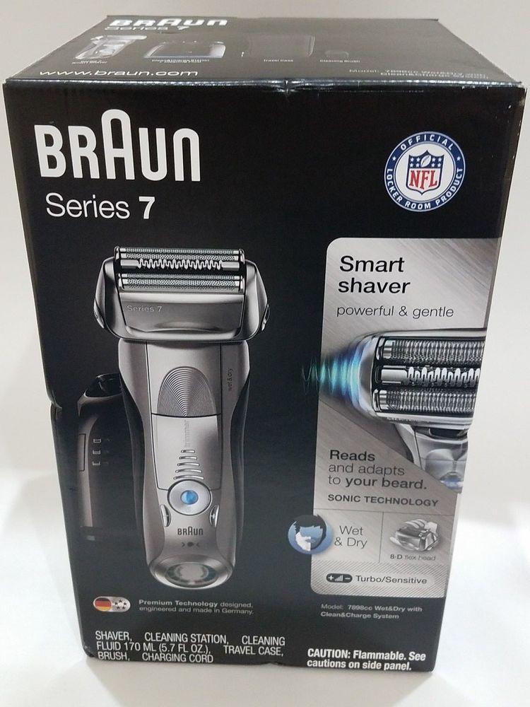 Braun Series 7 7898cc Men S Rechargeable Electric Shaver W Cleaning Station Braun Shaver Braun Series 7