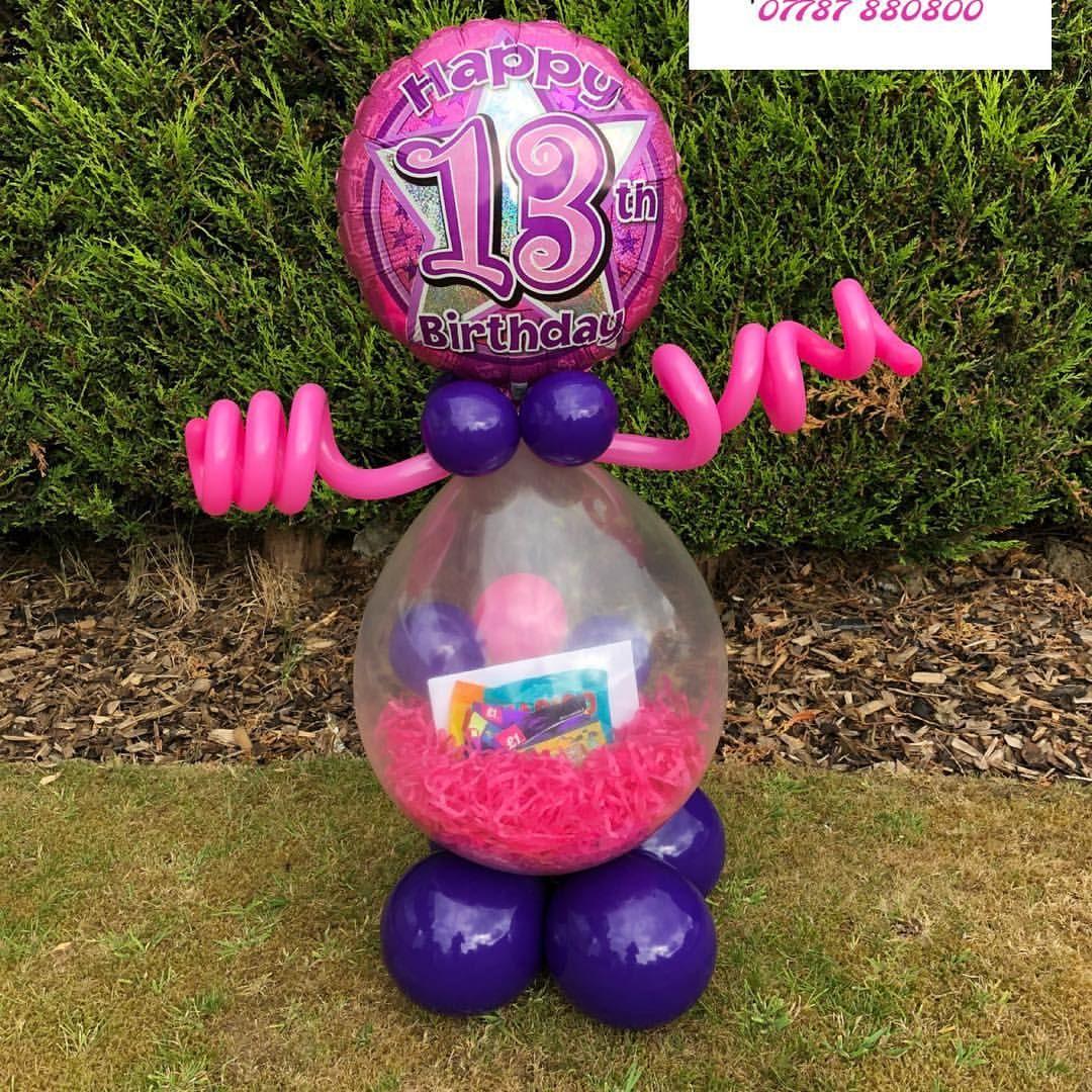 Age 13 sweetie & gift balloon #teenager #13thbirthday #birthdaygirl #birthdaygift #giftideas # ...