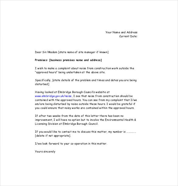 business complaint letter free word pdf documents download - business complaint letter format