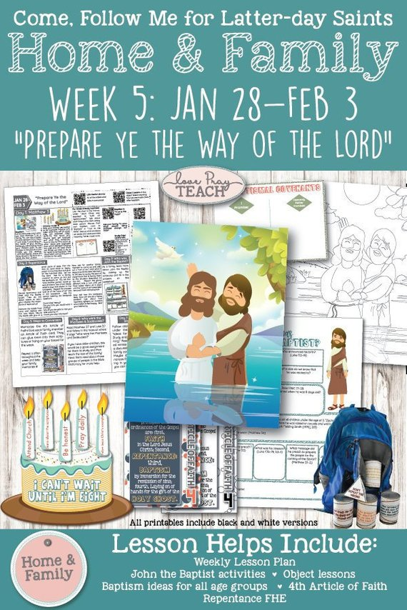 WEEK 5: Home & Family Printable Lesson Packet for