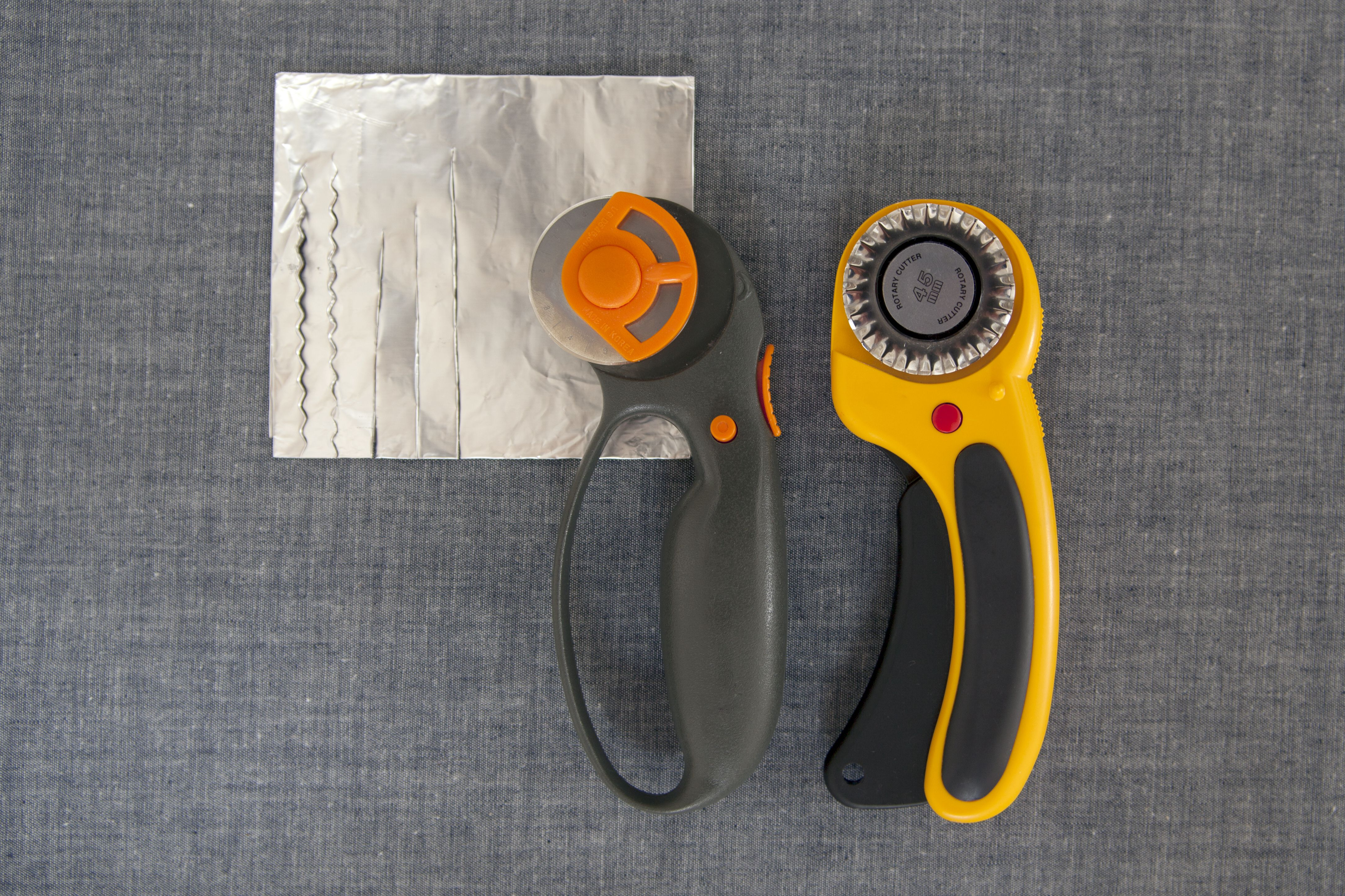 Sharpen Rotary Blades with Aluminum Foil Rotary blades