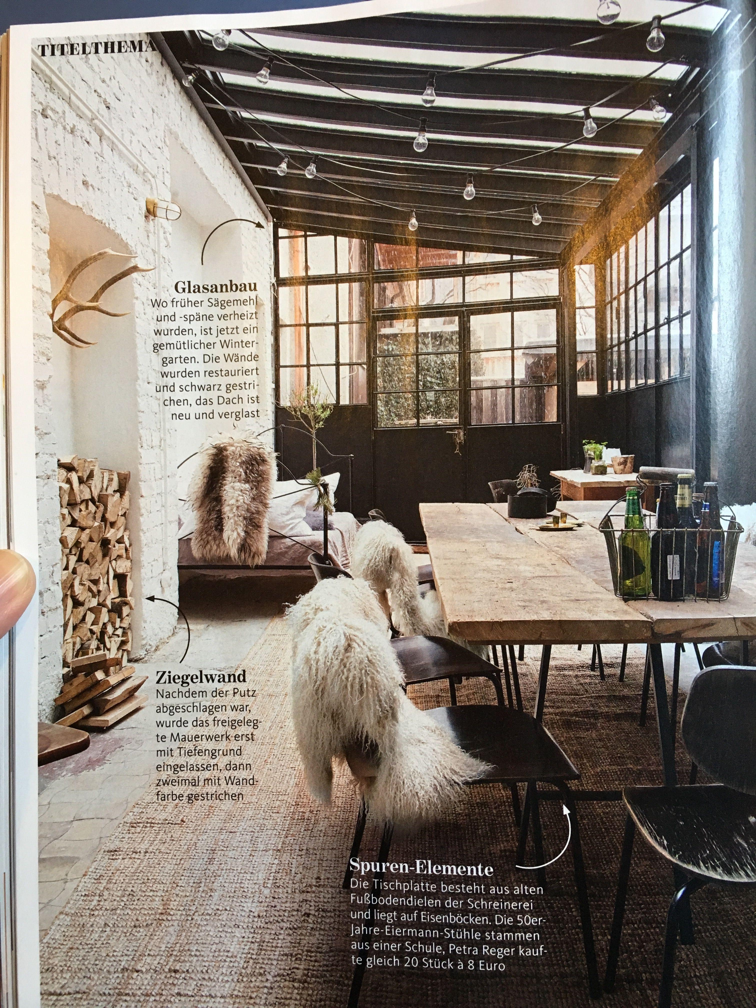 wintergarten alte schreinerei sch ner wohnen industrie. Black Bedroom Furniture Sets. Home Design Ideas