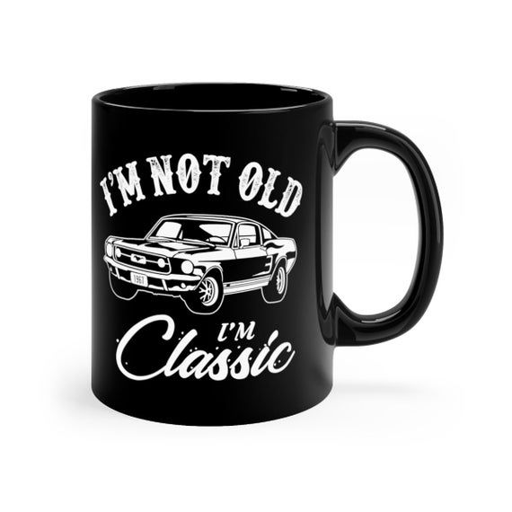 Classic Mustang, Classic Car Mug, Classic Cars, Classic car gifts, car gifts, Christmas mug, Car mug, Birthday mug, Car Collector, Vintage