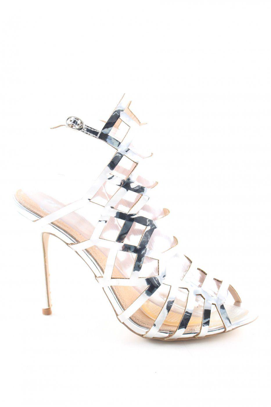 Cassis High Heels silberfarben Glanz-Optik | Mädchenflohmarkt