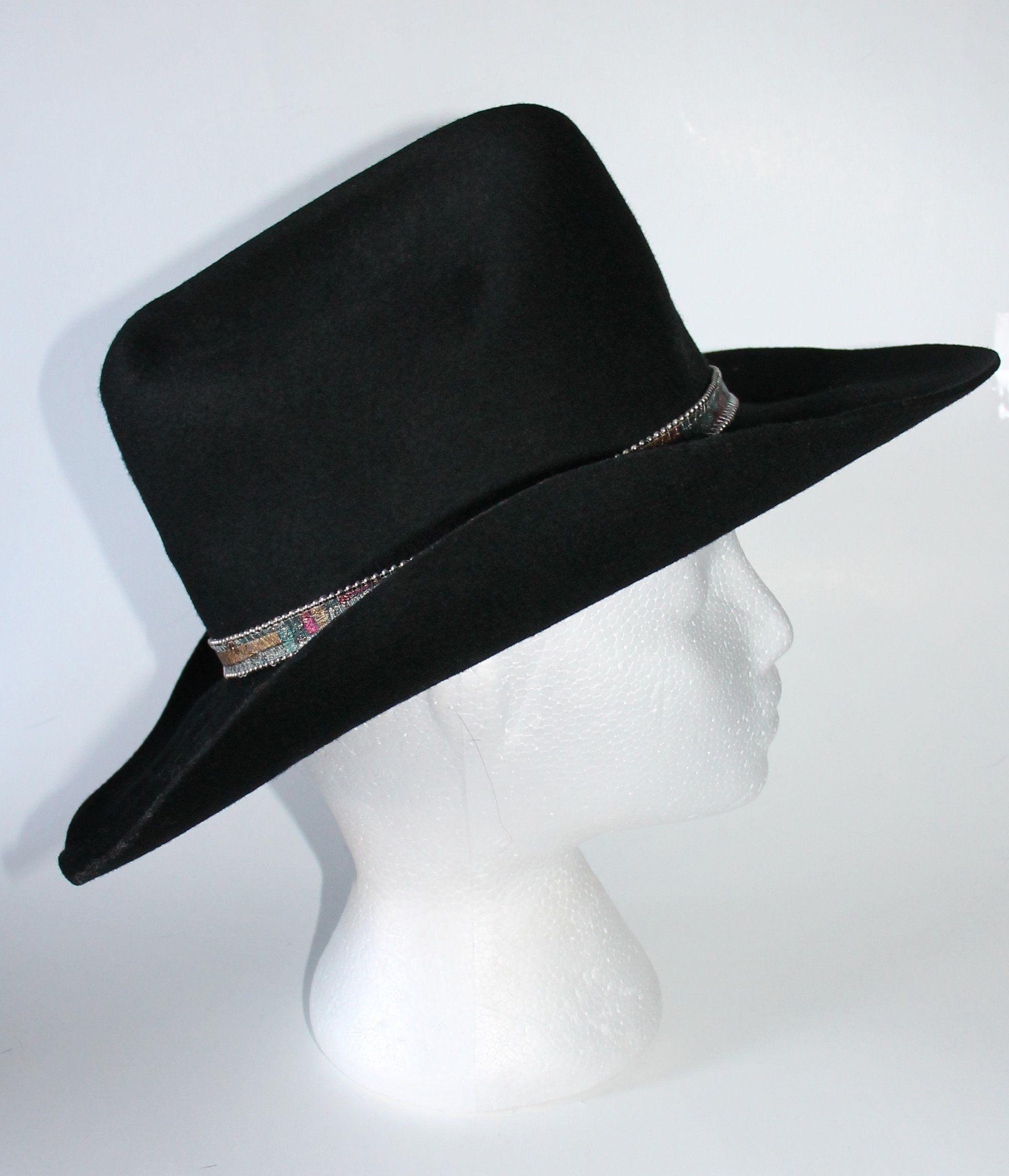 d47c346b2 Black Cowboy Hat by Western Express Inc Size 7 Wool Western in 2019 ...