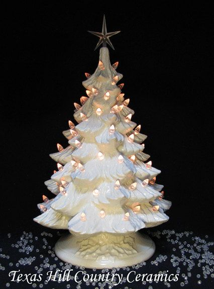 Ceramic Tabletop Christmas Tree With Lights Endearing Winter White Ceramic Christmas Tree Crystaltexas Ceramics Review